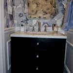 Powder Room Wallpaper Vanity
